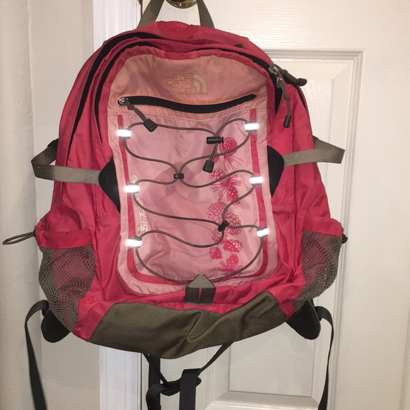 The North Face pink backpack